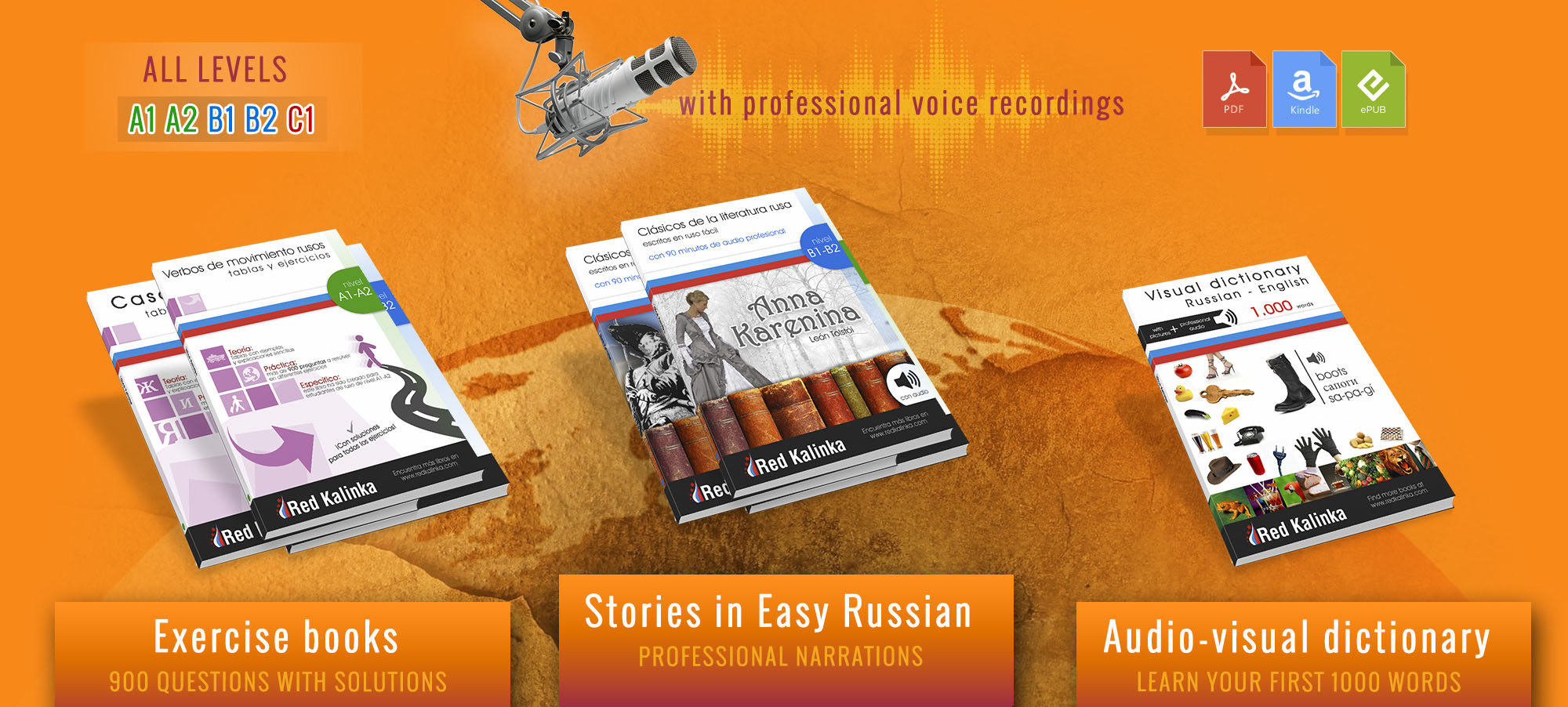 Books to learn Russian: read, listen and learn
