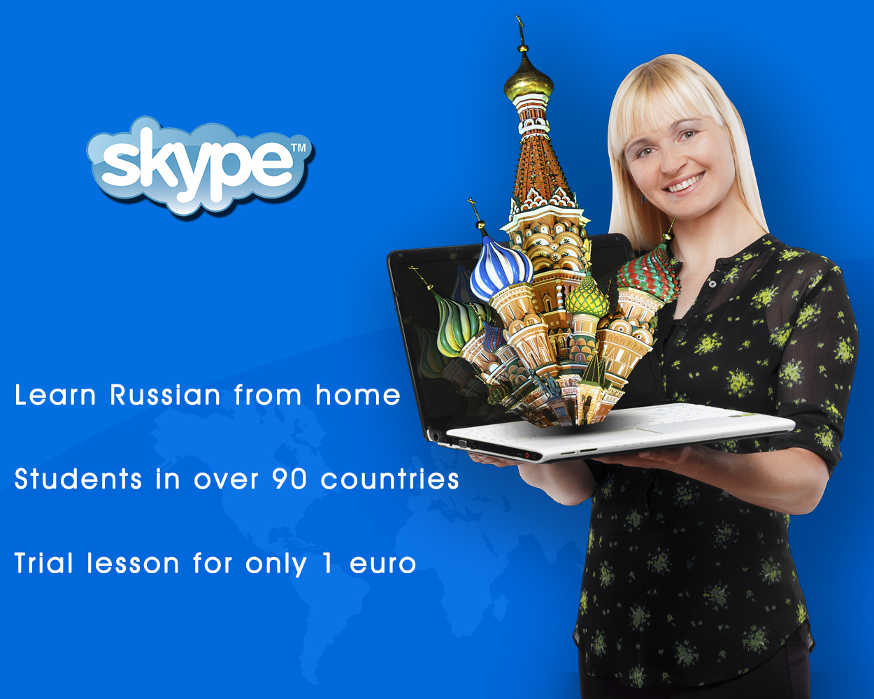 One-to-one Russian classes with Skype