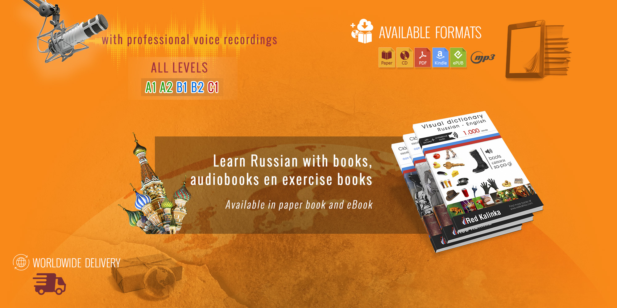 Read Paperback books to Learn Russian